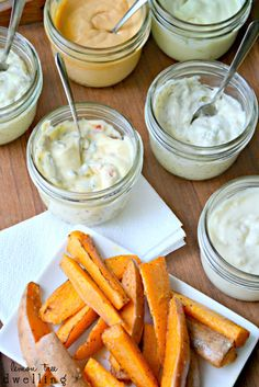 {Make Your Own} Flavored Mayo  #dips #spread #sauce #food #recipes