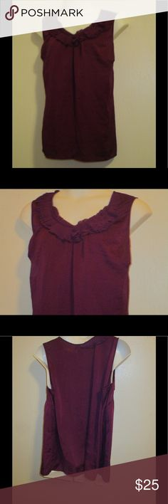 PLUM ROSETTE SLEEVELESS TOP BY LANE BRYANT * 26 * BRAND NEW; PLUM ROSETTE NECK SLEEVELESS TOP BY LANE BRYANT * 26 *. PLEASE FEEL FREE TO ASK ANY QUESTIONS YOU MAY HAVE AND I WILL REPLY WITHIN 48 HOURS. THE BEST DEALS ARE BUNDLED SO LOOK AROUND MY CLOSET AND HAPPY SHOPPING! Tops Blouses