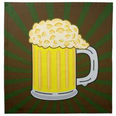 Beer cartoon napkins