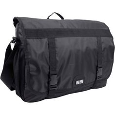 Eastsport Messenger Bag with double Buckle Closure, Black