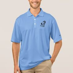 MEN'S NIKE PIQUE POLO SHIRT - HORSE - fathers day best dad diy gift idea cyo personalize father family