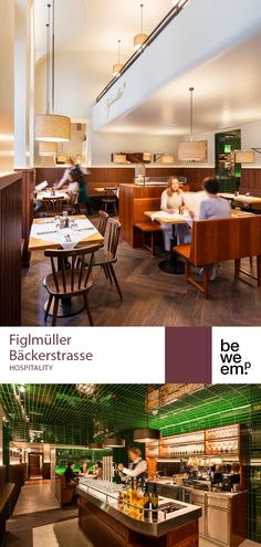 This client is a true Viennese institution: the iconic Figlmüller (official) restaurant, famous for its delicious Wiener Schnitzel! We redesigned the restaurant in Vienna's Bäckerstraße and extended it to include the entire ground floor of the neighbouring building so that it can now seat 250 guests. We've combined typical Viennese materials with modern elements to create a fresh, yet cosy atmosphere where guests can enjoy their classic Viennese dishes. © BWM Architekten / Severin Wurnig Wiener Schnitzel, Ground Floor, Hospitality, Cosy, Restaurant, Flooring, Fresh, Dishes, Create