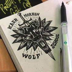 Wolf School Despite the fact tha. Witcher Art, The Witcher, Wolf Outline, Witcher Tattoo, Cd Project Red, Witcher Wallpaper, Gaming Tattoo, Get A Tattoo, Fall Tattoo