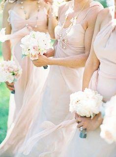 Romantic dresses! #White #Blush