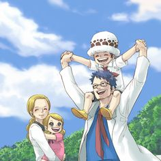 Trafalgar family - Trafalgar D. Water Law, his mother, father, and sister Lami, One Piece Manga, One Piece Fanart, One Piece World, One Piece 1, Trafalgar Law, Itachi, Jean Bart, Best Anime Shows, One Piece Images