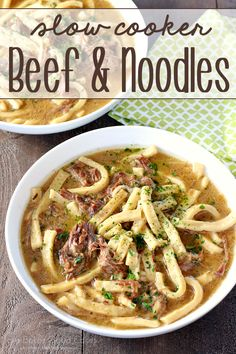 Hearty, and stick-to-your-ribs, this Slow Cooker Beef & Noodles is a cinch to make!