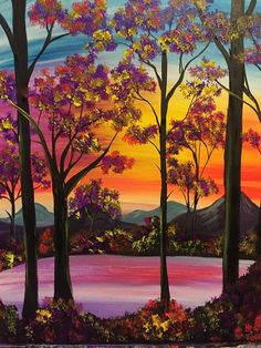 There's nothing like a peaceful summer night! Spend yours painting Shimmering Sunset with us!