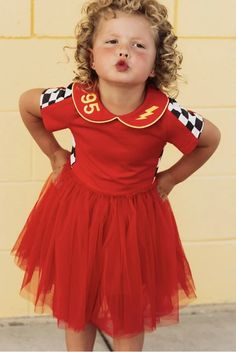 lightening mcqueen cars dress Lightening Mcqueen, Disney Shirts, Race Cars, Nice Dresses, Bodice, Kids Fashion, Tulle, Dress Up, Racing