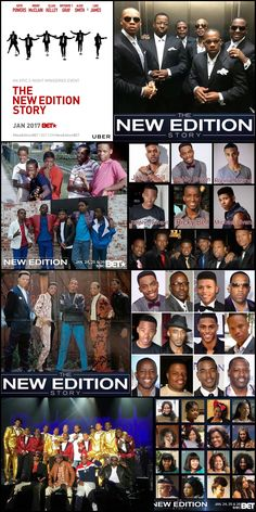 """THE NEW EDITION STORY (3 Nights Series) Begins Tuesday January 24, 2017 #BET 9:00pm Check Your Local #Listing The biopic The New Edition Story follows the iconic R&B/pop group """"New Edition"""" from their humble beginnings in Boston to global stardom."""