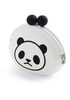 Bamboo coin purse from ModCloth.  Why is the poor panda so sad :(