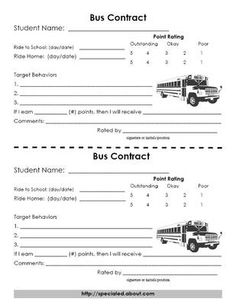 bus behavior mgmt contract