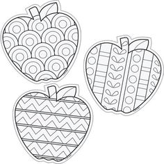 Color Me 6 Designer Cut Outs Apples: Colouring Pages, Adult Coloring Pages, Coloring Sheets, Coloring Books, Apple Coloring, Autumn Crafts, Autumn Art, Crafts For Kids, Arts And Crafts