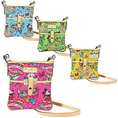 disney sketch corssbody bag by dooney and bourke in pink