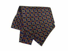 Ascot-Men-Man-Cash-with-Printed-Silk-Printed-Silk-60-Blue-Green-Rust-Italy