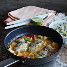 stekepanne med kylling i spicy mangosaus