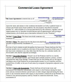 Free Commercial Lease Agreement Template , 11+ Simple Commercial Lease  Agreement Template For Landowner And