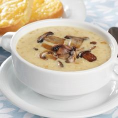 Wondering what to do with mushrooms this winter? Whip up a cosy and delicious mushroom soup! From healthy recipes, to the creamy, indulgent kind, check out these tasty mushroom soup recipes. Slow Cooker Recipes, Crockpot Recipes, Cooking Recipes, Lunch Recipes, Creamed Mushrooms, Stuffed Mushrooms, Fried Mushrooms, Mushroom Soup Recipes, Mushrooms Recipes