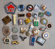 Mix of Vintage Soviet aluminum badges.  Measure: about 3 cm (1.1 inch) Shipping: We are sending our items within 48 hours of the purchase. Delivery