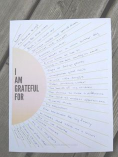 Gratitude Worksheet - How to Use a Sunburst Gratitude Worksheet