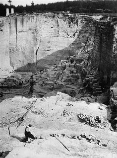 View of the stone quarry in the Gross-Rosen camp, where prisoners were subjected to forced labor. Gross-Rosen, Germany, 1940-1945.
