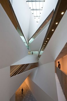 """""""Herta and Paul Amir Building"""": a dizzying array of perspectives greets visitors in this annex to the Tel Aviv Museum of Art. Brutalist influences relate it to the main complex; Tel Aviv, Israel 