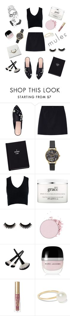 """Fun in Mules"" by iheartevergreens on Polyvore featuring KG Kurt Geiger, Olivia Burton, Sans Souci, philosophy, Marc Jacobs and Sophie Bille Brahe"