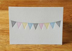 Bunting ThankYou Cards set of ten by PressingOnOnline on Etsy, $20.00