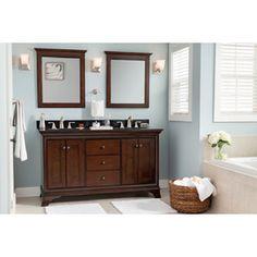 double sink vanity with granite top. Shop Allen  Roth Eastcott Auburn Undermount Double Sink Bathroom Vanity With Granite Top Common X Actual Costco Double Sink Vanity Hunter Pinterest Marble Top Sinks