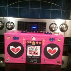 Boom Box Valentine Box | 23 Fun Valentines Day Crafts for Kids to Make