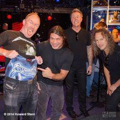 Great Bands, Cool Bands, Metallica Funny, Howard Stern Show, Abc Photo, Kirk Hammett, James Hetfield, Dream Guy, Rockers