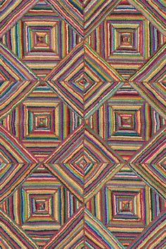 DashAndAlbert Kaledo Primary Cotton Micro Hooked rug. This would be great in my kitchen.