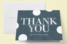 Oh Baby Dots Baby Shower Thank You Cards by Baumbirdy at minted.com