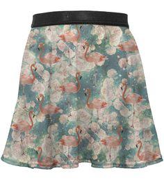 Flamingo circle skirt for kids, Mr. GUGU & Miss GO