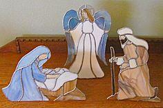 Stained Glass Christmas Nativity (Holiday and Seasonal-Christmas ...