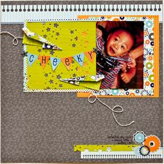 Cute! Love the paper airplanes and the look of spiral notebook paper for border.