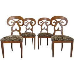 Set 4 Biedermeier Chairs   From a unique collection of antique and modern dining room chairs at http://www.1stdibs.com/seating/dining-room-chairs/