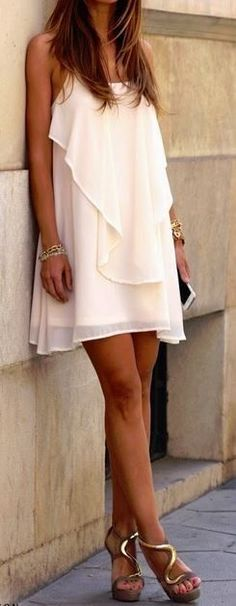 #street #style #casual #outfits #spring #outfit #ideas | Perfect summer dress!