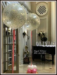 Confetti Glitter balloons #elegantballoons