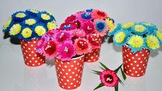 Kwiaty z bibuły do kompozycji krok po kroku # Crepe paper flowers step by step DIY