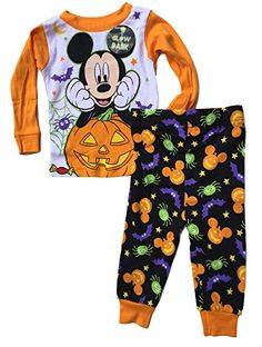 Baby boys Mickey Mouse Two-Piece Halloween Pajamas (24M) Halloween Pajamas, Disney Halloween, Halloween Outfits, Halloween Clothes, Pajama Set, Pajama Pants, Holiday Wear, Very Scary, Trick Or Treat