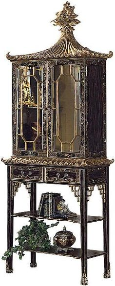 The Well Appointed House by Melissa Hawks. Black Chinoiserie Cabinet