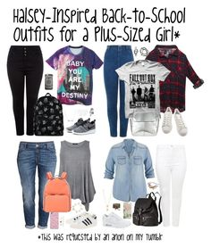 """""""Halsey-Inspired School Outfits for a Plus-Sized Girl"""" by halseys-clothes ❤ liked on Polyvore featuring NIKE, Forever 21, Adina Reyter, Wet Seal, adidas, Kin by John Lewis, Nixon, Jennifer Zeuner, Feather & Stone and maurices"""