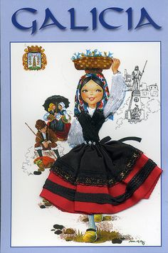 traditional dress, Galicia, Spain by ichabodhides, via Flickr