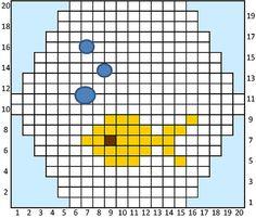 fish hexipuff pattern
