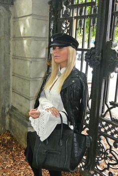 black n white Black N White, Punk, Style, Fashion, Swag, Moda, Fashion Styles, Black White, Punk Rock