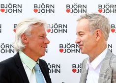 Tennis greats Borg and McEnroe in July 2011. A thirty year relationship. It began as a rivalry on the courts. They now love each other as brothers off the courts.  (BB)