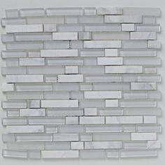Mosaics Shades of Grey White Linear Glass Stone Mix Mosaic tile from House of British Ceramic Tile http://www.britishceramictile.com/tile-finder/?filtering=1&filter_collection=1033