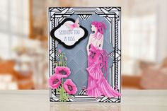 Tattered Lace Glitz & Glam Clara Essentials Die - - 2016 Release in Crafts, Scrapbooking & Paper Crafts, Die Cutting & Embossing, Embossing Stencils & Folders Art Deco Cards, Tattered Lace Cards, Lace Art, Art Deco Illustration, Hand Made Greeting Cards, Handmade Card Making, Spellbinders Cards, Birthday Cards For Women, Scrapbook Paper Crafts