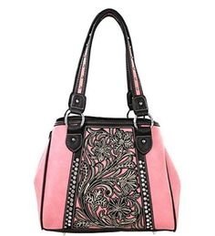 Montana West MW141G-8036BN Studded Concealed Handgun Collection-Pink - Handbags, Bling & More!