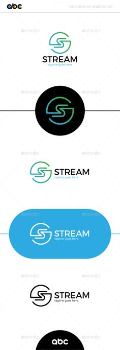 Stream Letter S Logo  — EPS Template • Only available here ➝ https://graphicriver.net/item/stream-letter-s-logo/17646700?ref=pxcr